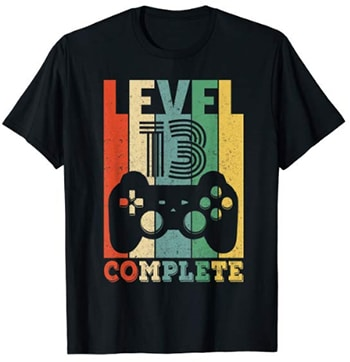 "Gamer T-Shirt ""Level 13 Complete"" für Jungs"