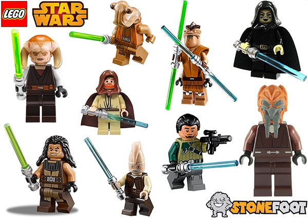 LEGO Star Wars Jedi Figuren